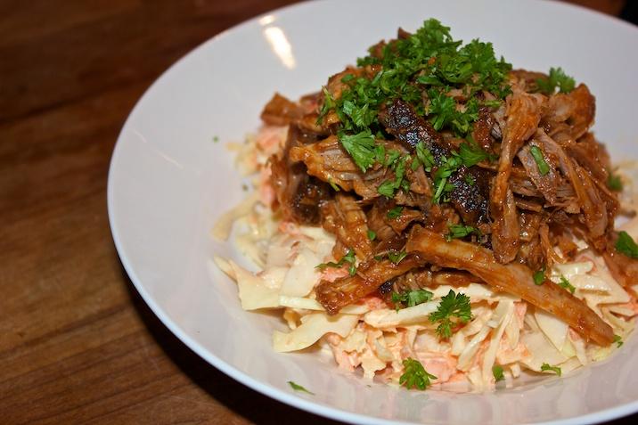 Pulled pork + coleslaw