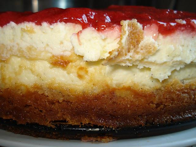 Cheesecake med jordbærtopping